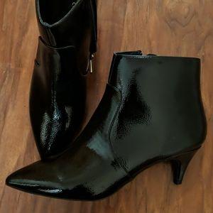 Pointy toe, kitten heel ankle boots